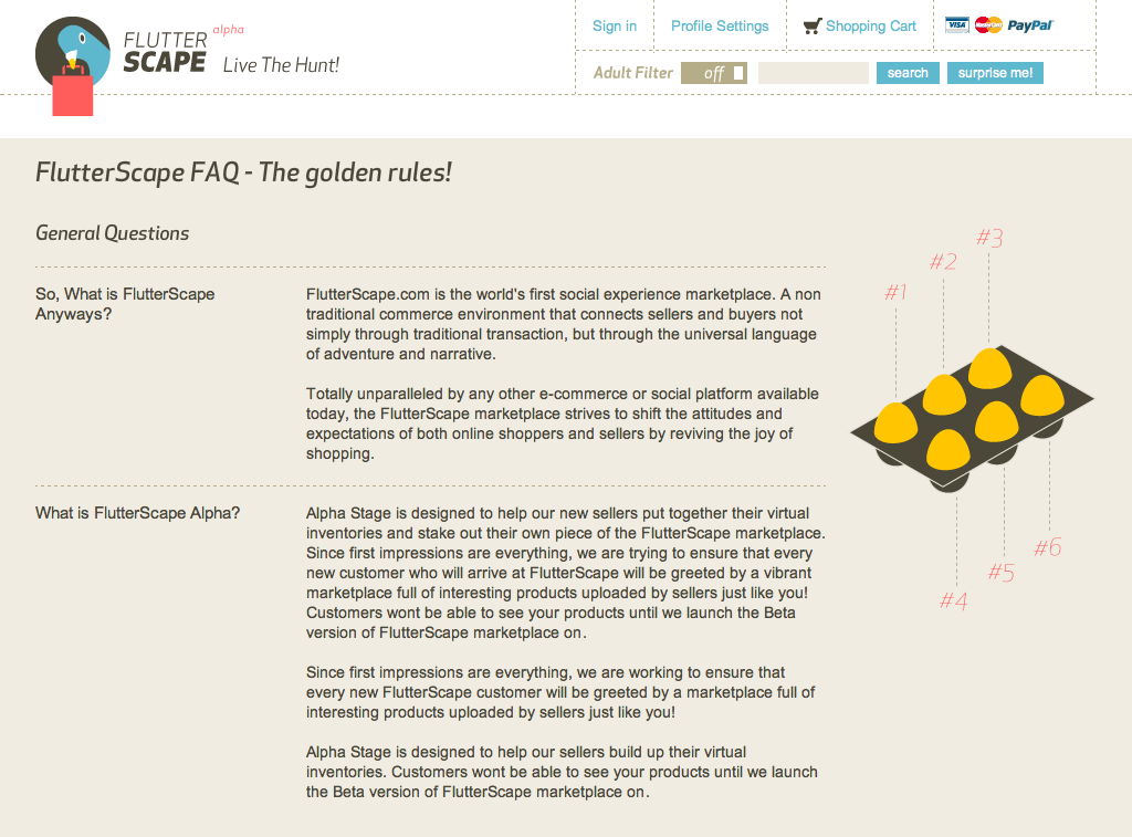 FlutterScape - FAQ Page