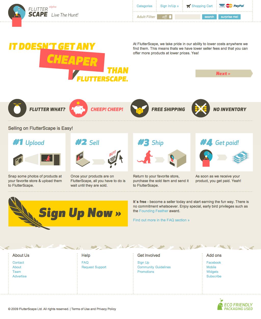 FlutterScape - Homepage