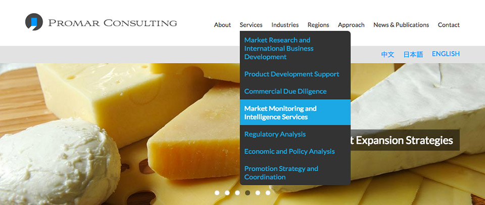 Promar Consulting - Website Menu