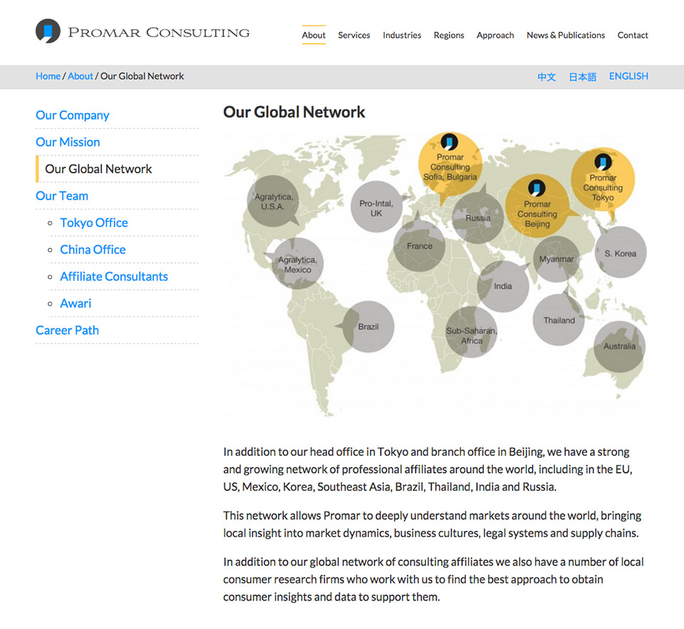 Promar Consulting - Website Global Map