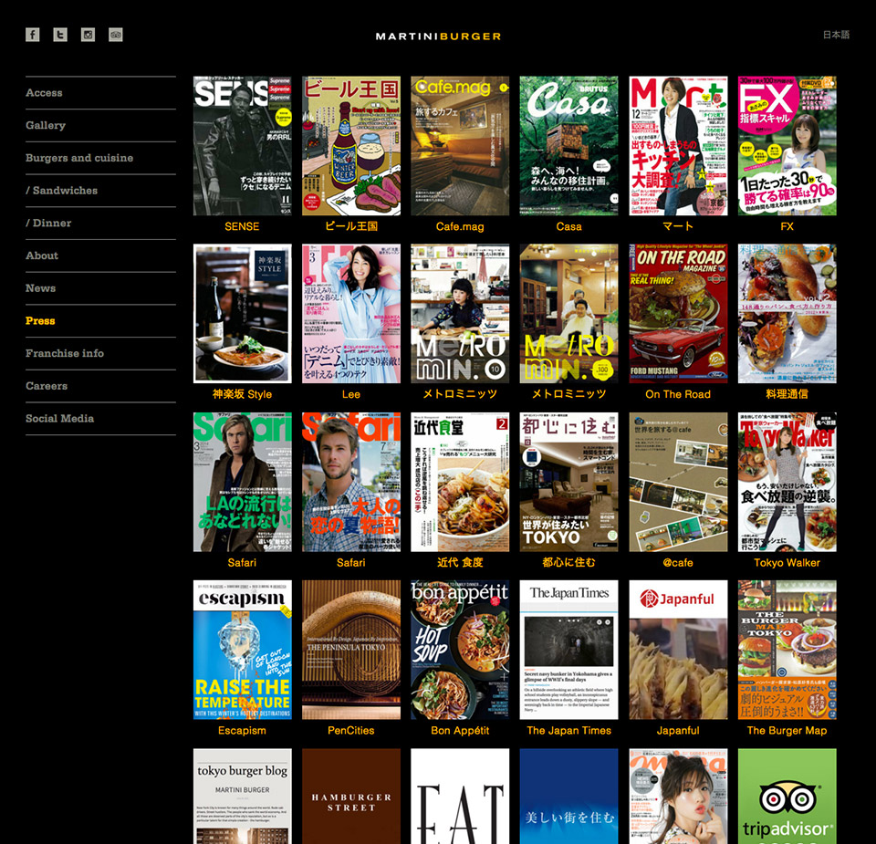 Martiniburger - Press Page