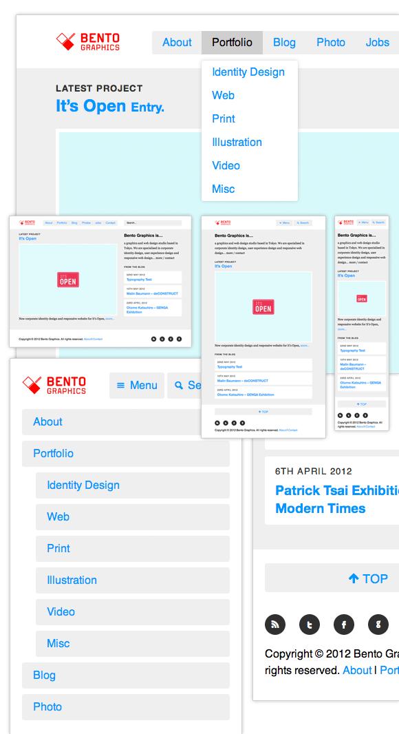 Bento Graphics Tokyo - Responsive Web Design / Mobile First