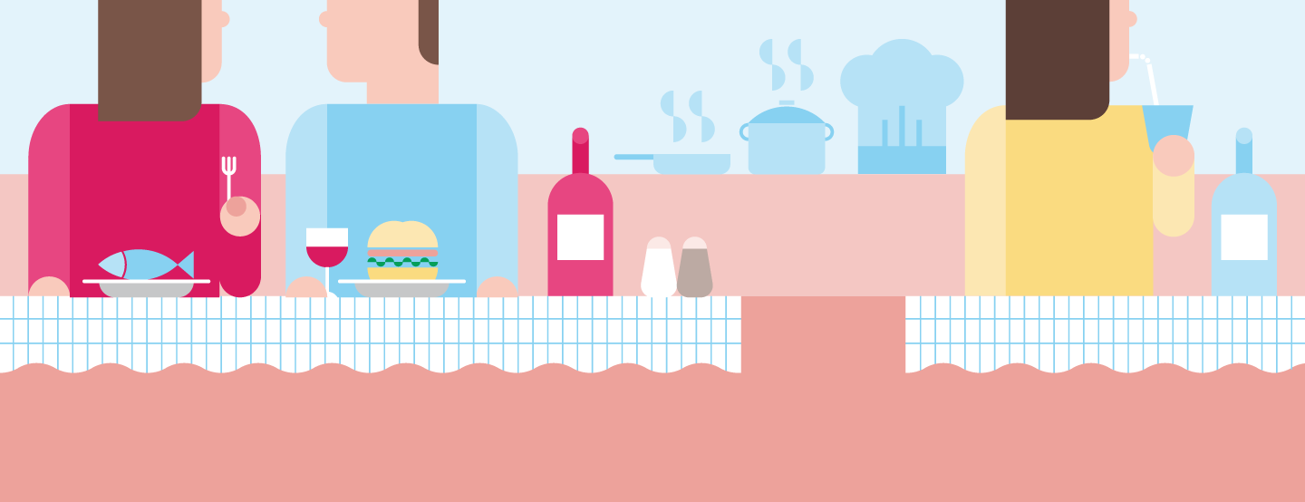Think with Google - APAC - illustration banner - gastro restaurants industry