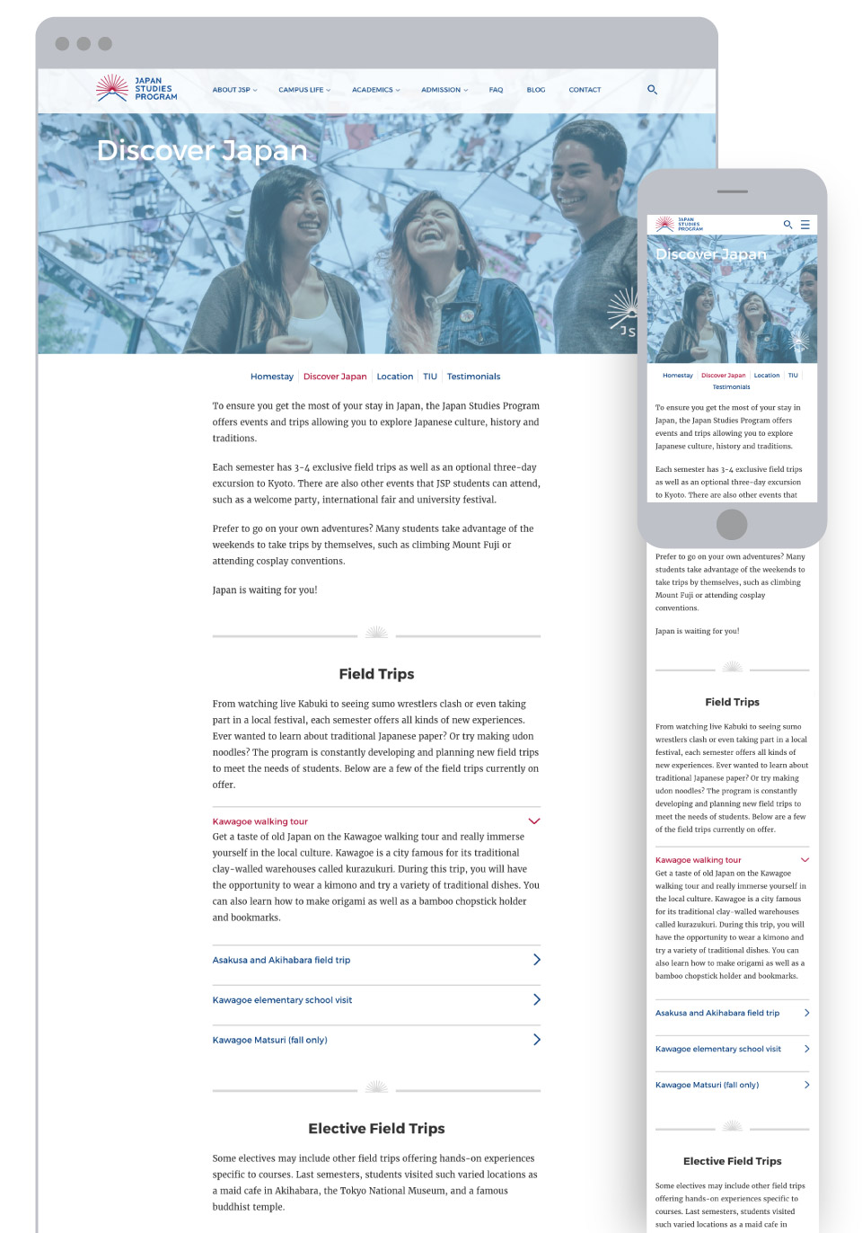 Japan Studies Program for Tokyo International University - Field Trips Page