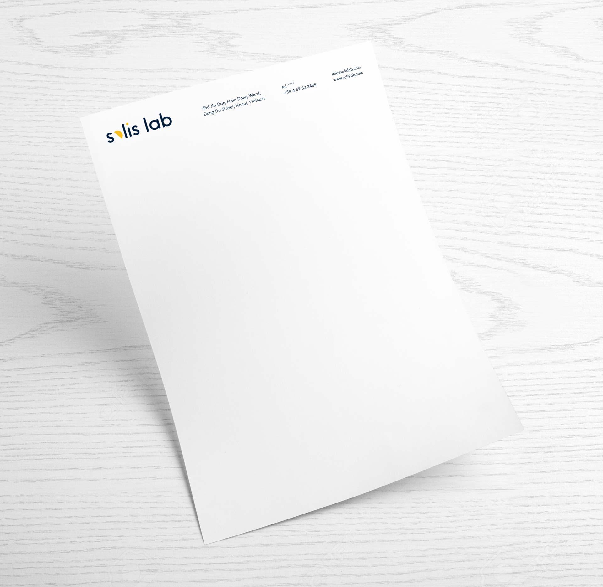 solis lab - letterhead design