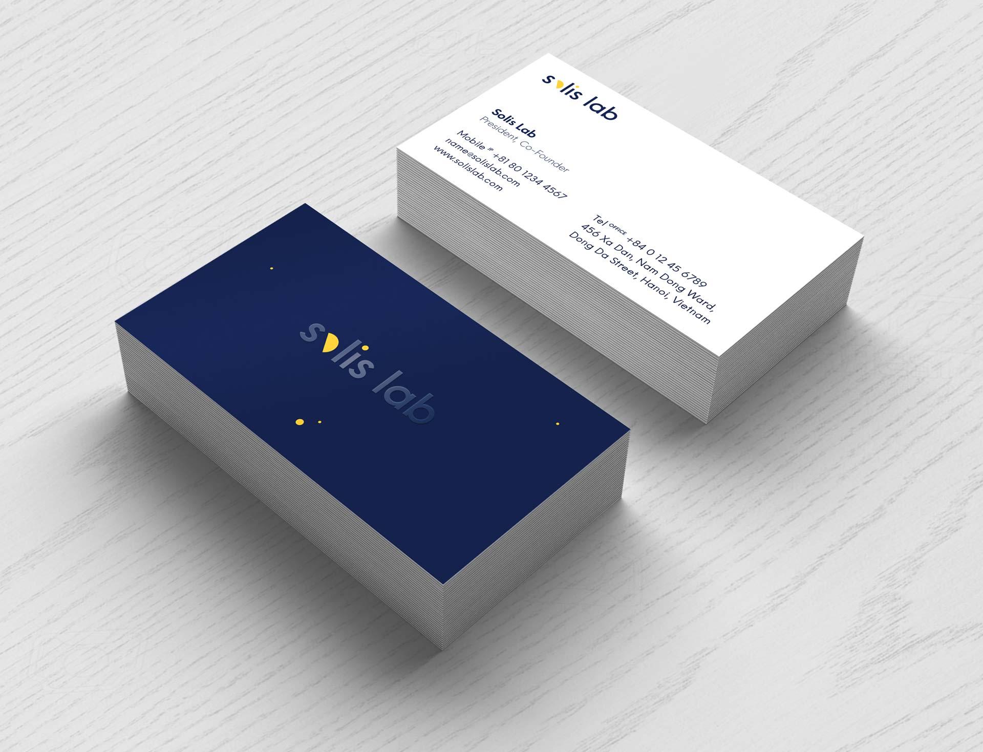 solis lab - business card design
