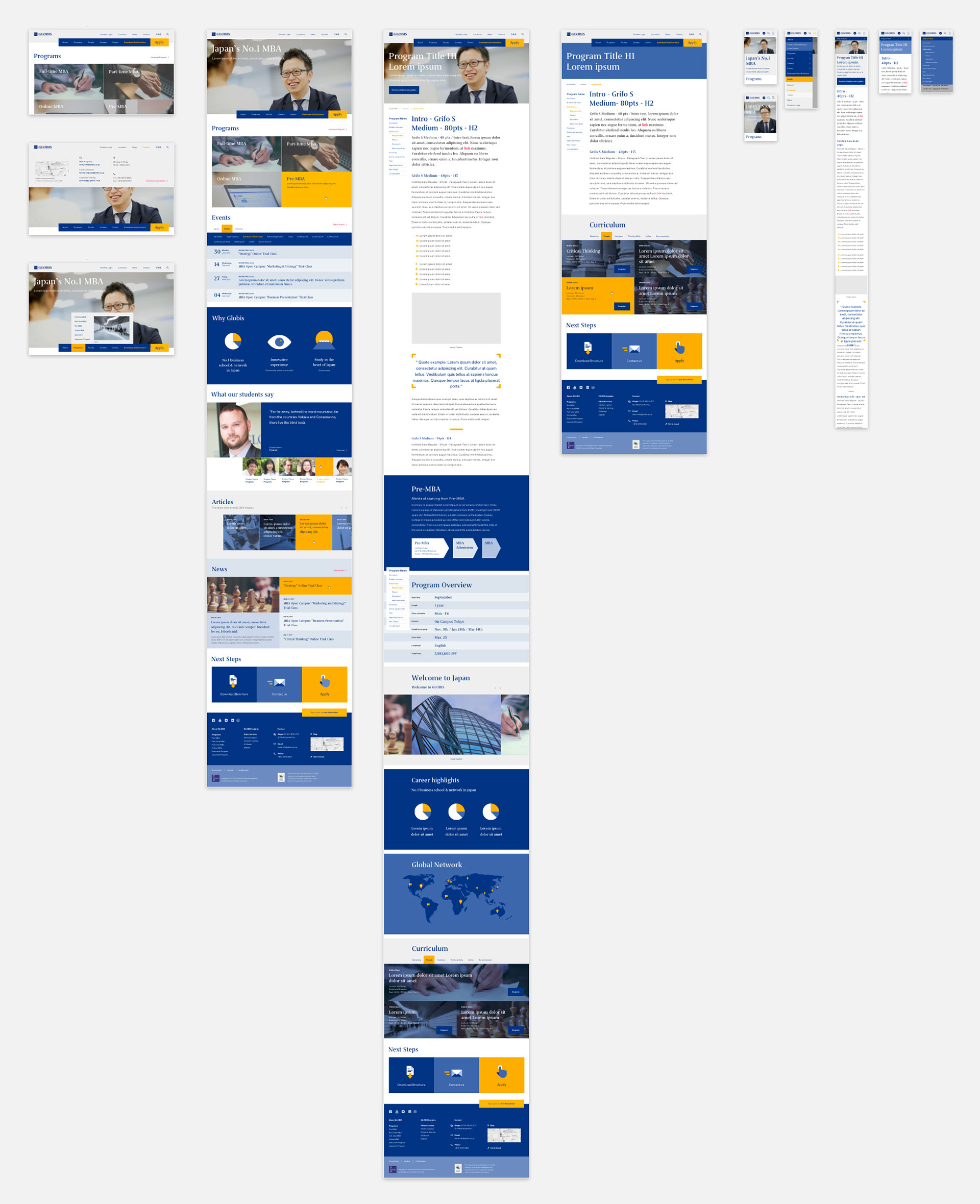 Globis University - Business School -Refined UI Design Mockup