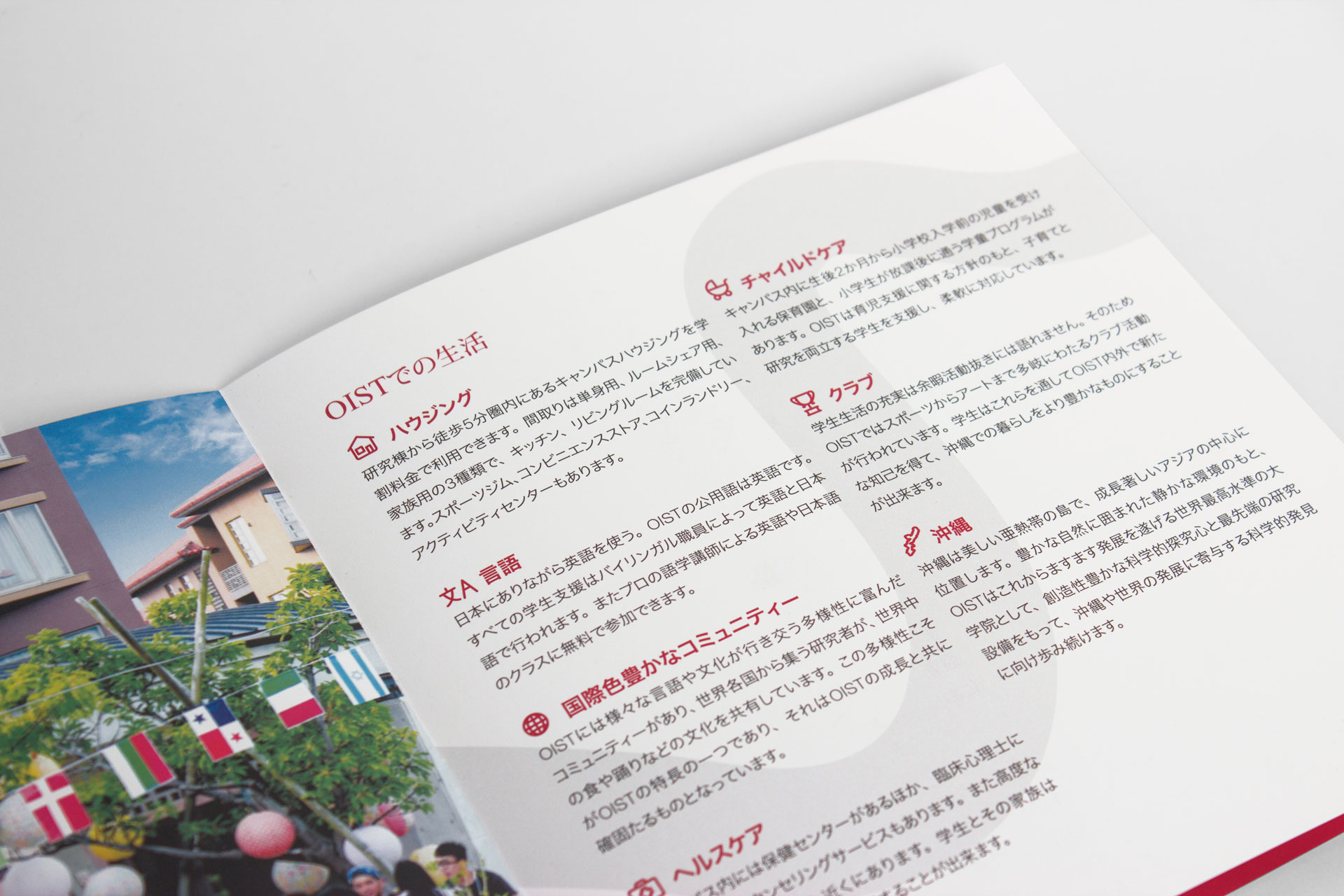 Leporello pamphlet for Okinawa Institute of Science and Technology (OIST) - PhD and Research Internships