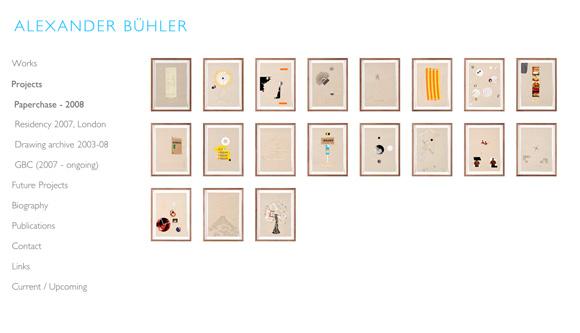 Alexander Bühler - Project Listing Page
