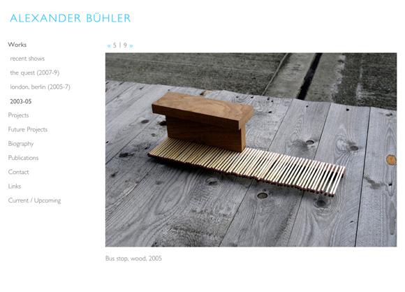 Alexander Bühler - Work Page