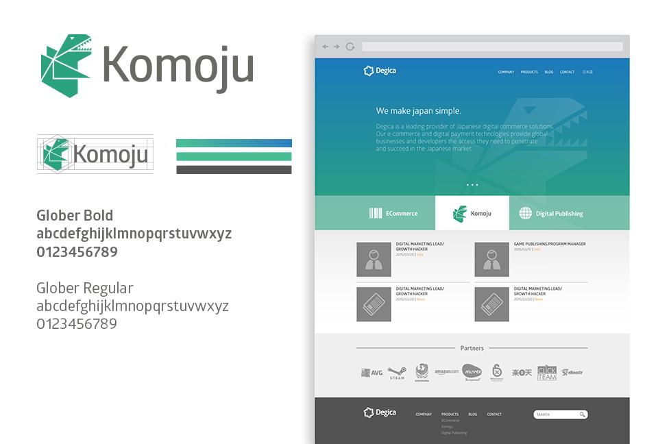 Degica - We make Japan simple - Sub-identity for Komoju