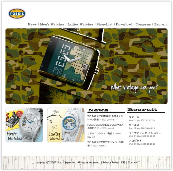 Fossil Japan - Top Page