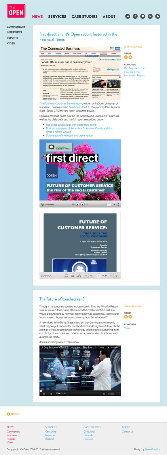 It's Open - News Landing Page