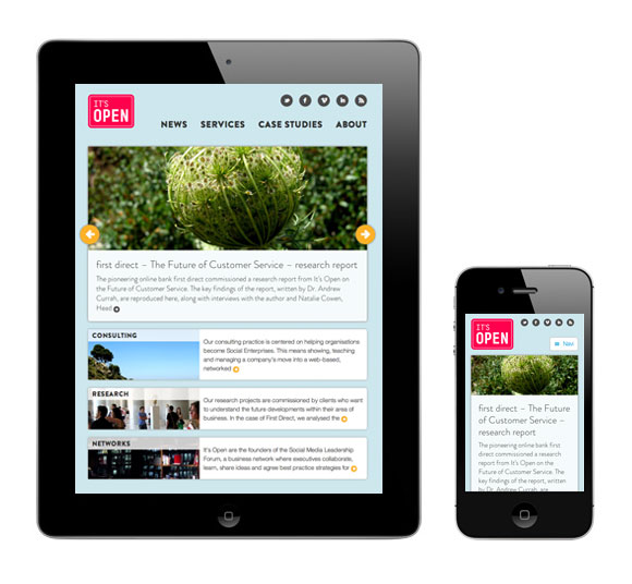 It's Open - Fluid-responsive website, adaptive
