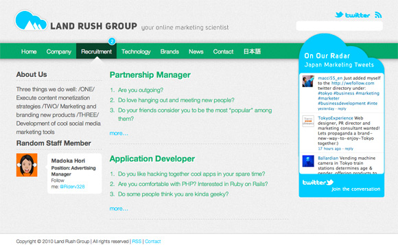 Land Rush Group - Recruitment Page