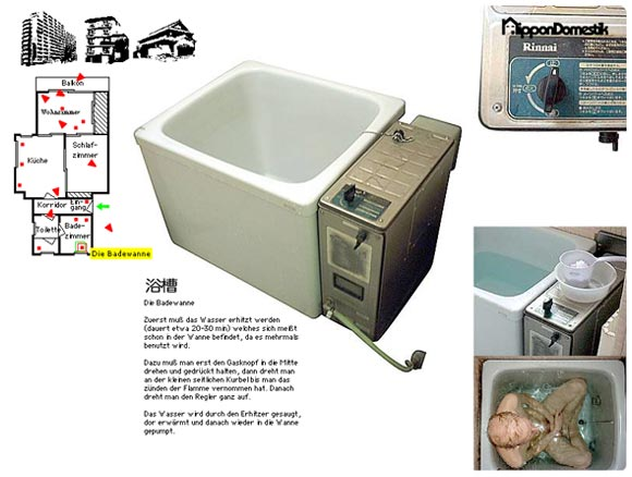 Nippon Domestik - 70`s Japanese Building - Bathtub