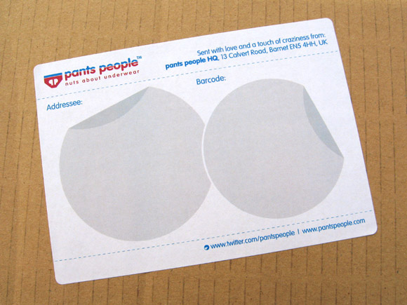 Pants People - Nuts about Pants - Packaging Addressee Labels