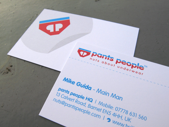 Pants People - Nuts about Pants - Business Cards