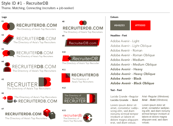 RecruiterDB - Style Guide Draft - Matching