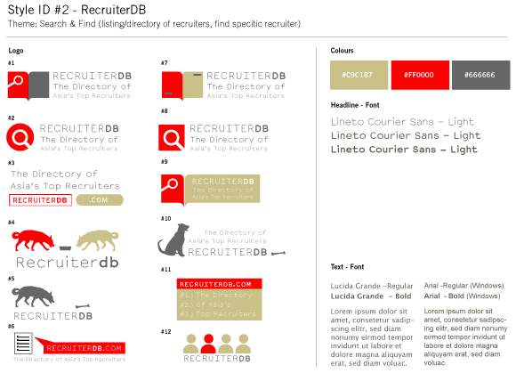 RecruiterDB - Style Guide Draft - Search