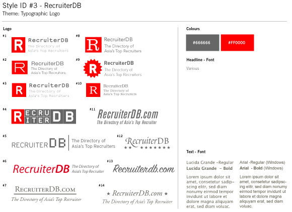 RecruiterDB - Style Guide Draft - Typography