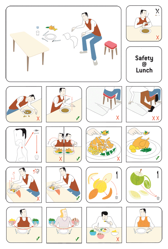 Safety at Lunch - Information Graphics
