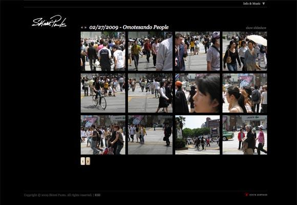 Skinnipants Homepage  - Thumbnail Gallery