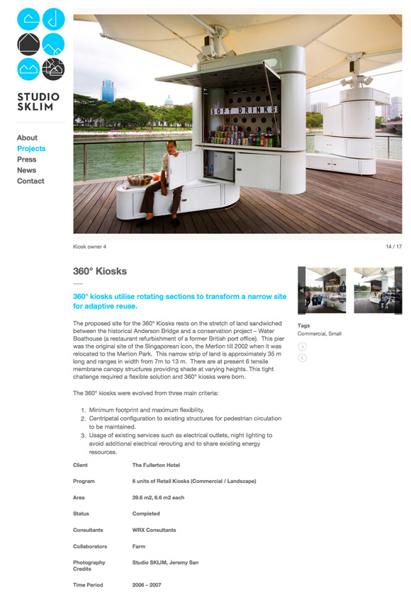 Studio Sklim Tokyo/Singapore - Project Detail Page - 360 Kiosk