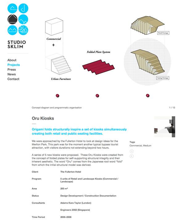 Studio Sklim Tokyo/Singapore - Project Detail Page - Oru Kiosk