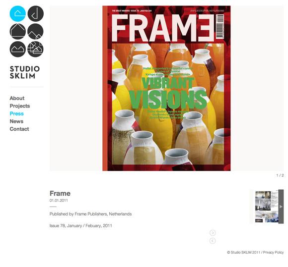 Studio Sklim Tokyo/Singapore - Press Detail Page