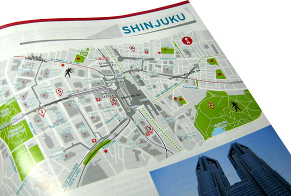 Washoi Magazine - Shinjuku Area Map