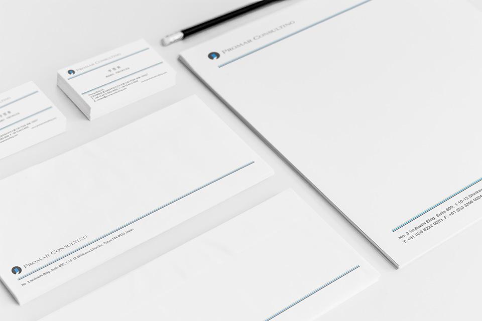 Promar Consulting - Business Card, Letterhead, Envelope Design
