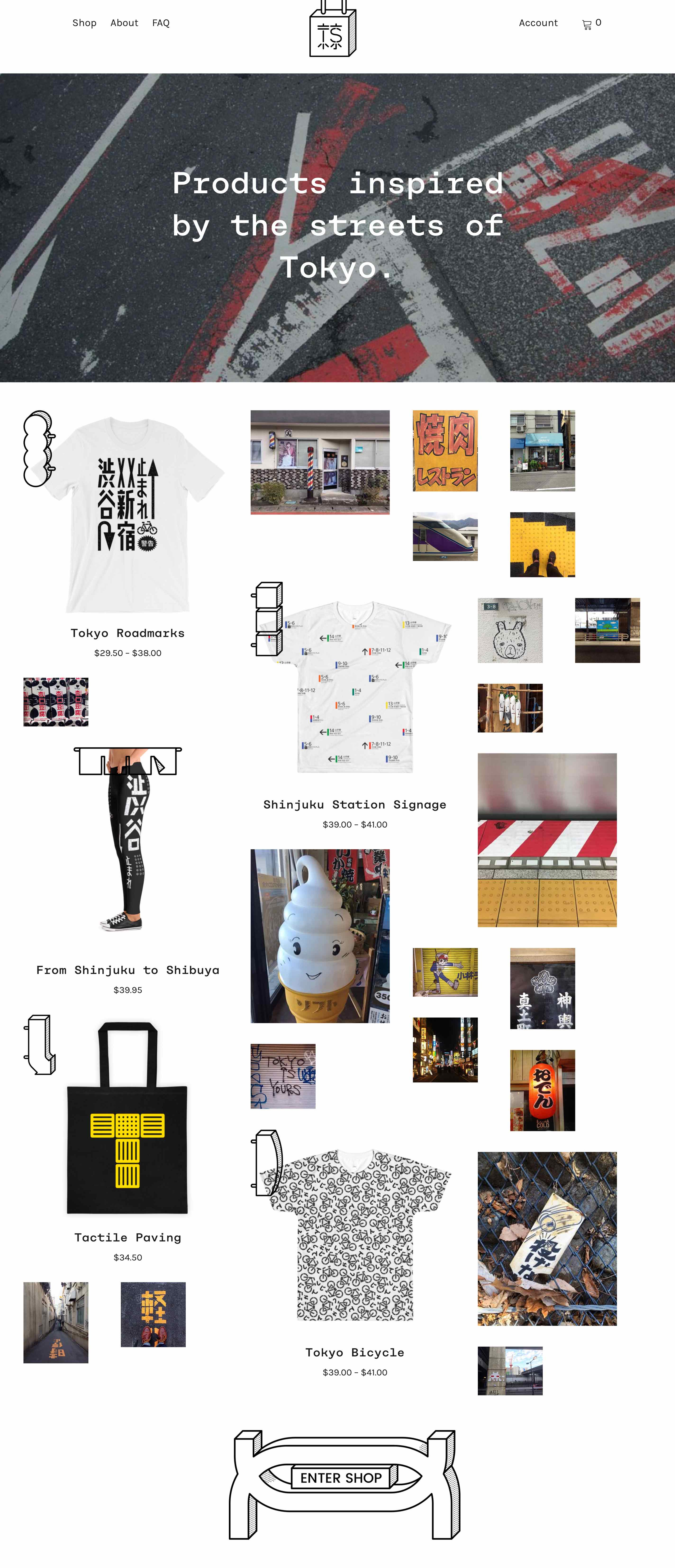 Tokyo Signs - Products inspired by the streets of Tokyo - Website