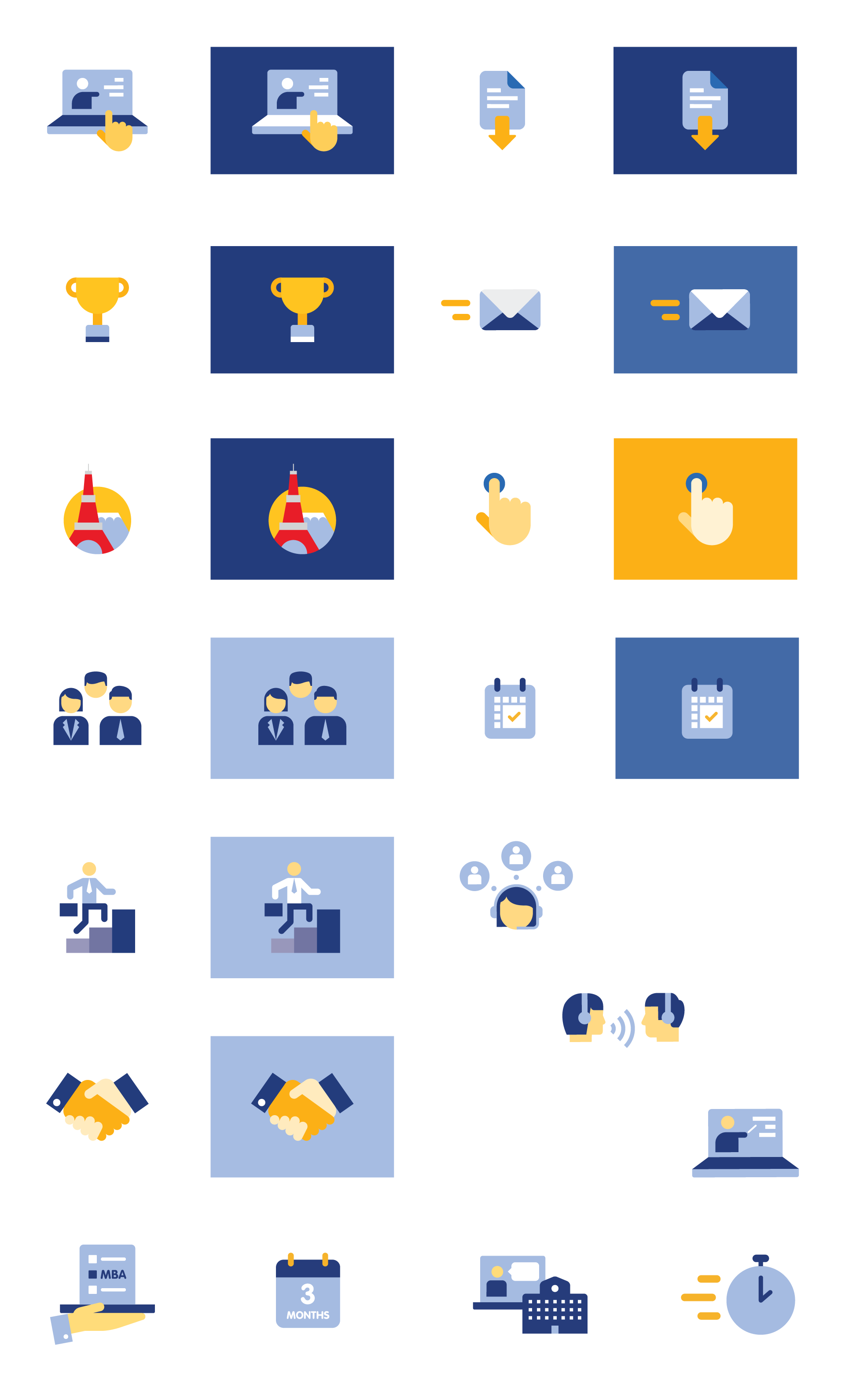 Globis University - Web Icon Design and Illustrations