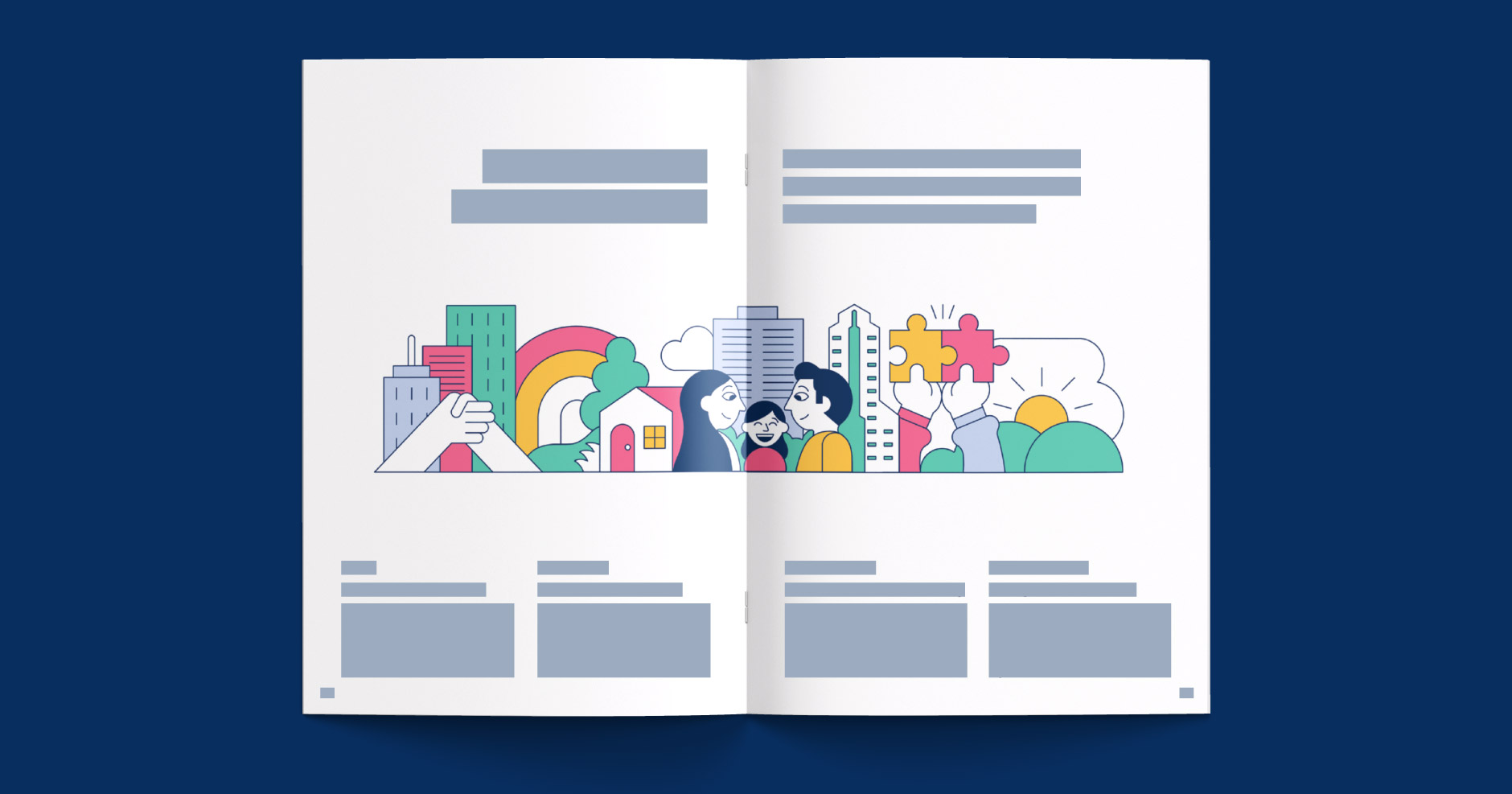 NEC Vision 2020 - Global Corporate Brochure Layout & Print Design