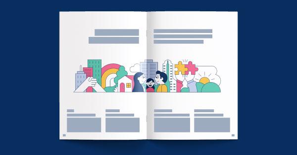 NEC Vision 2020 - Global Corporate Brochure Layout & Print Design