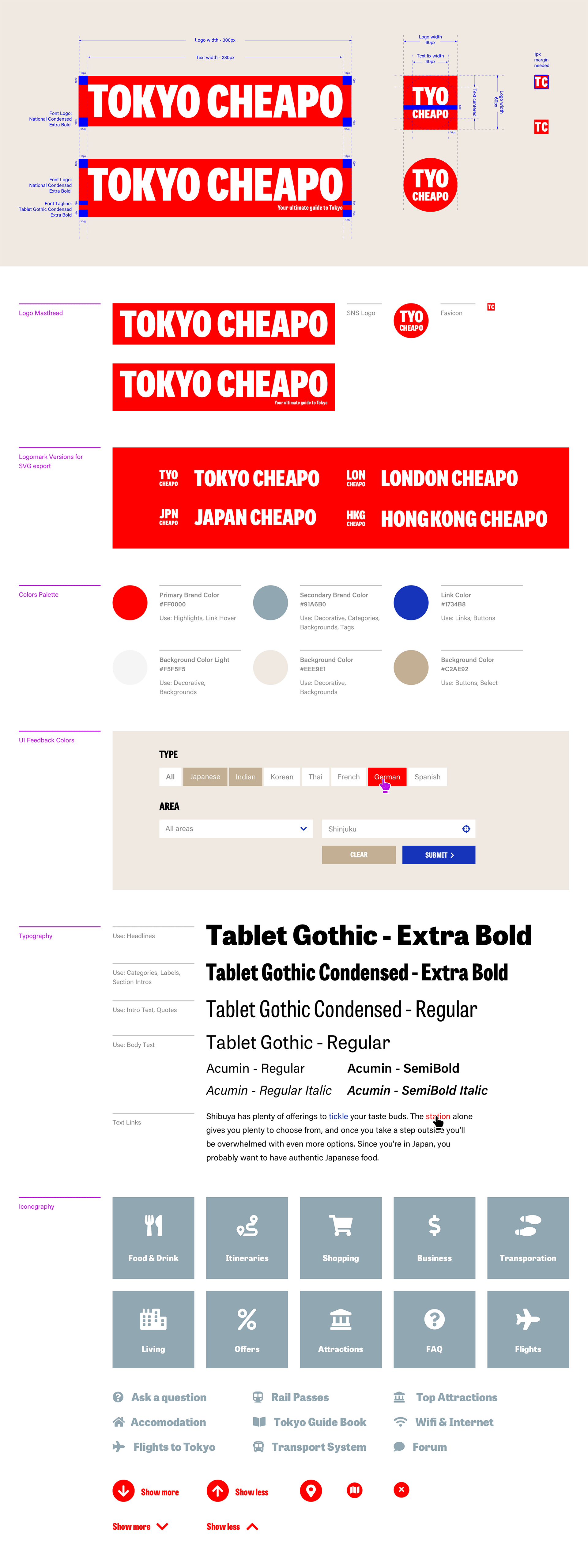 Tokyo Cheapo - Visual Identity - Style Guide - Brand Manual