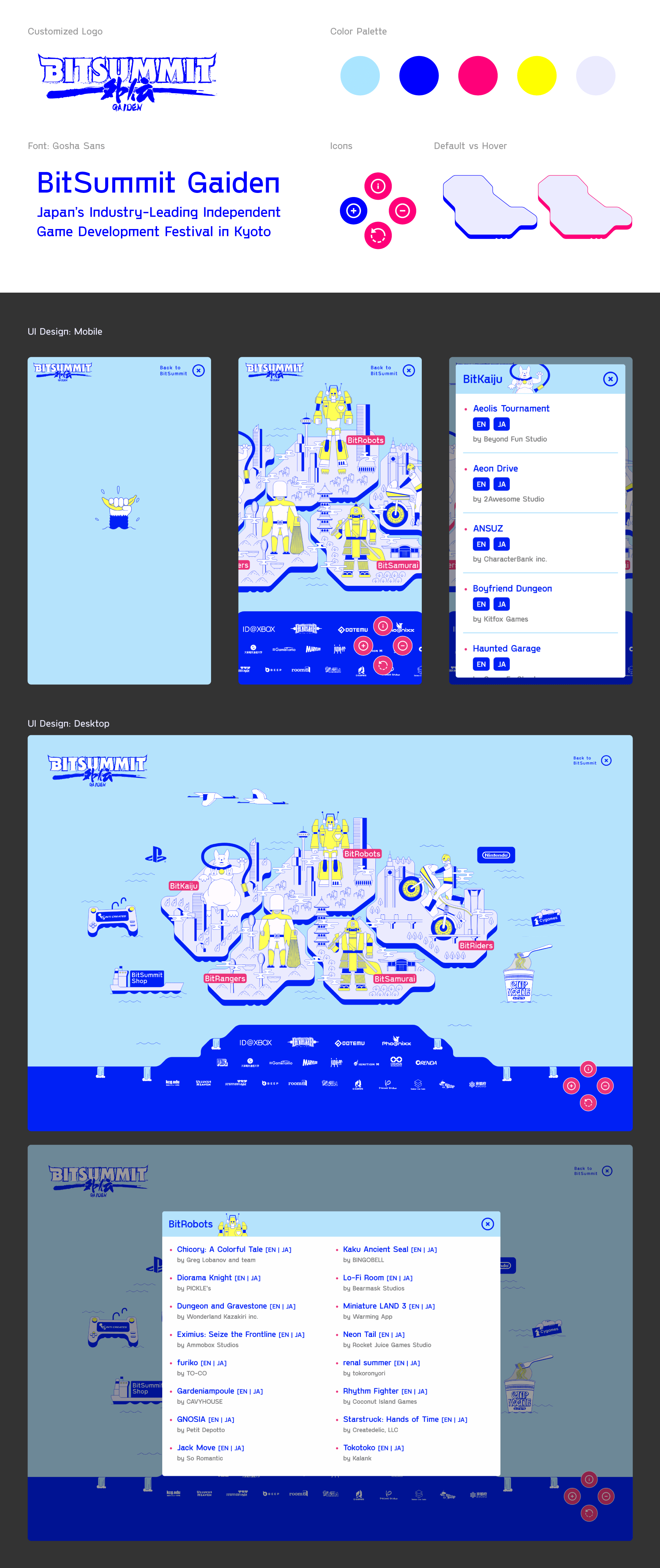 BitSummit Gaiden 2020 - Branding, Styling and UI/UX Design