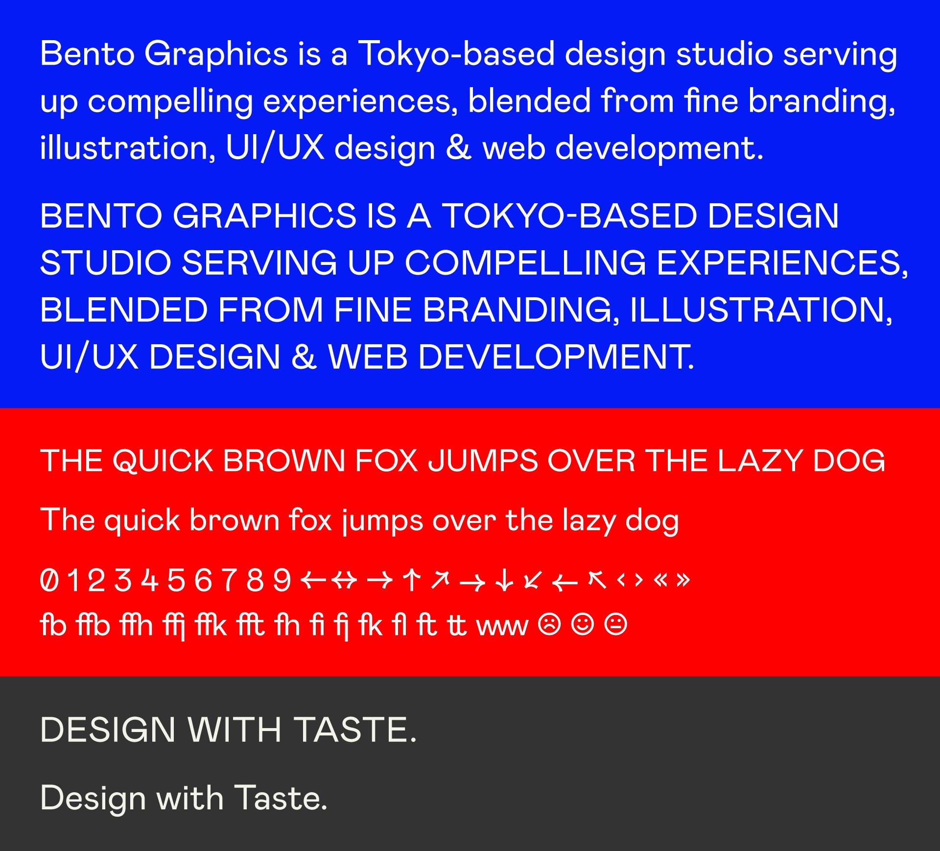 Bento Graphics - Branding Update - Mabry Font