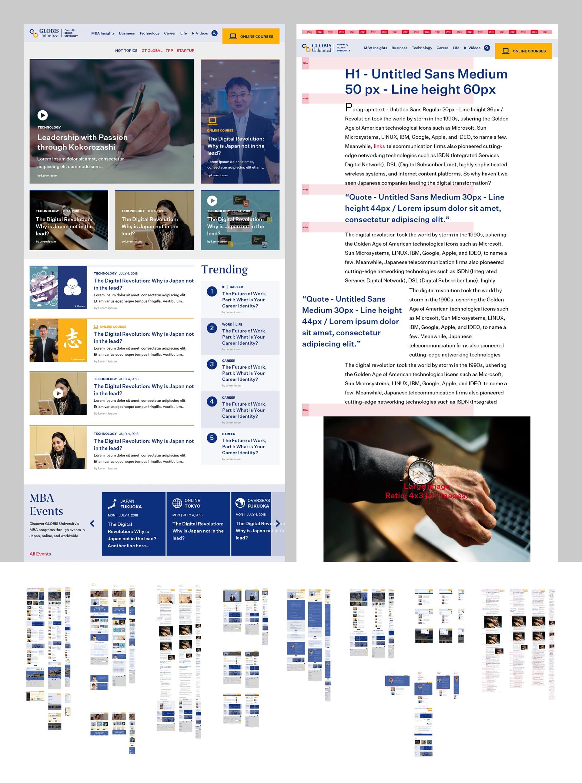 Globis University - Globis Insights - Globis Unlimited - UI/UX Design and Design Guideline