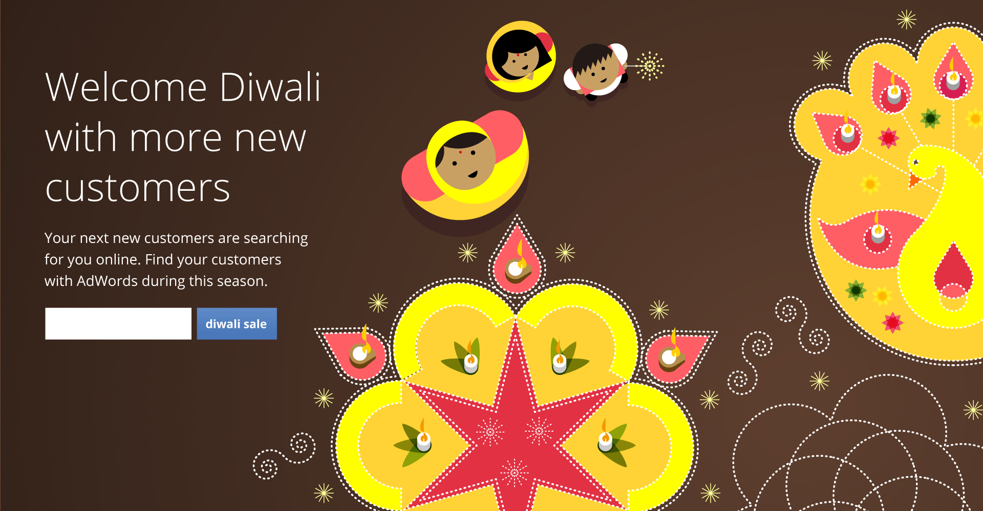 Google Adwords Diwali Illustrations