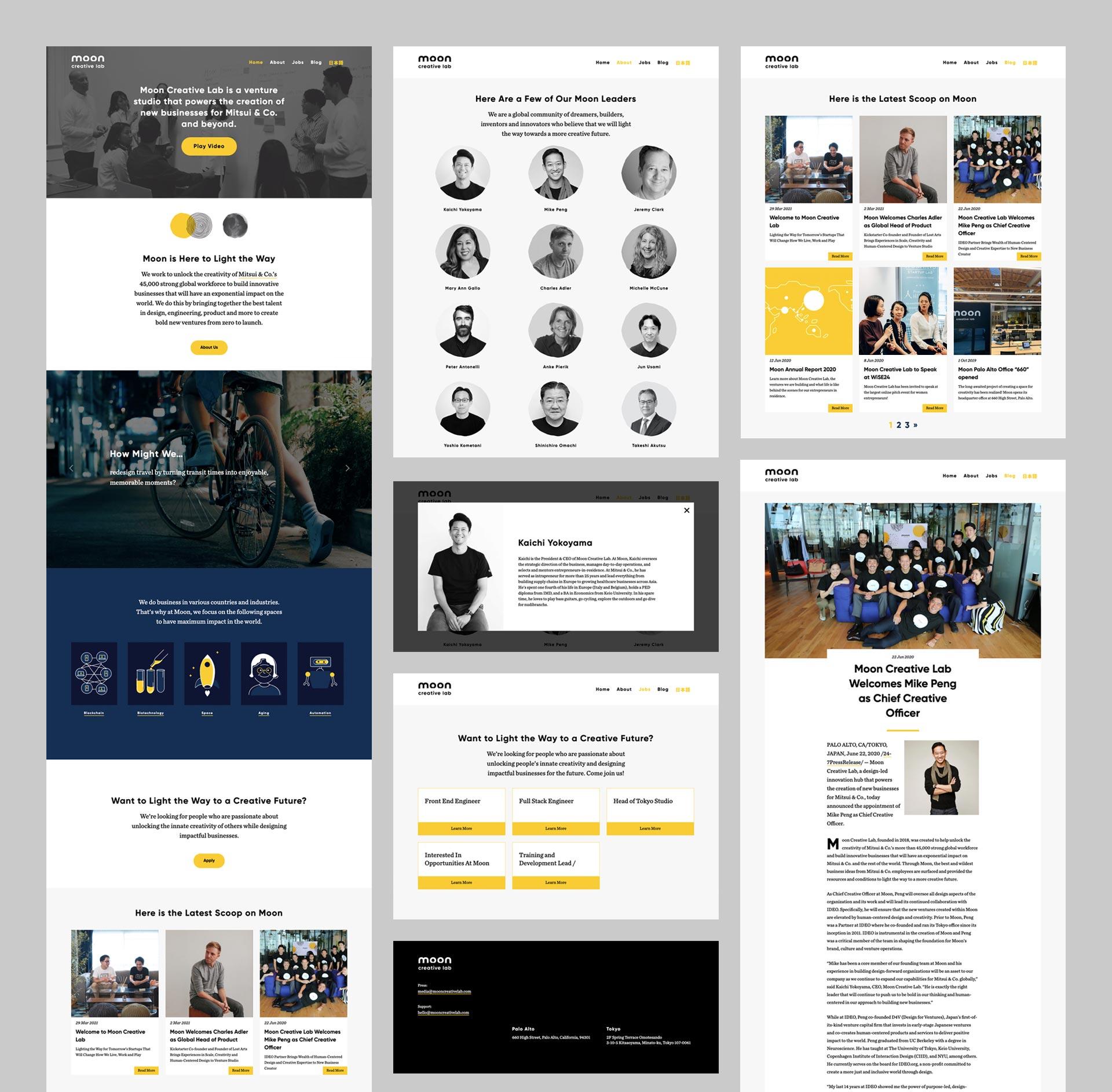 Moon Creative Lab Tokyo - Web Development - UI/UX Design