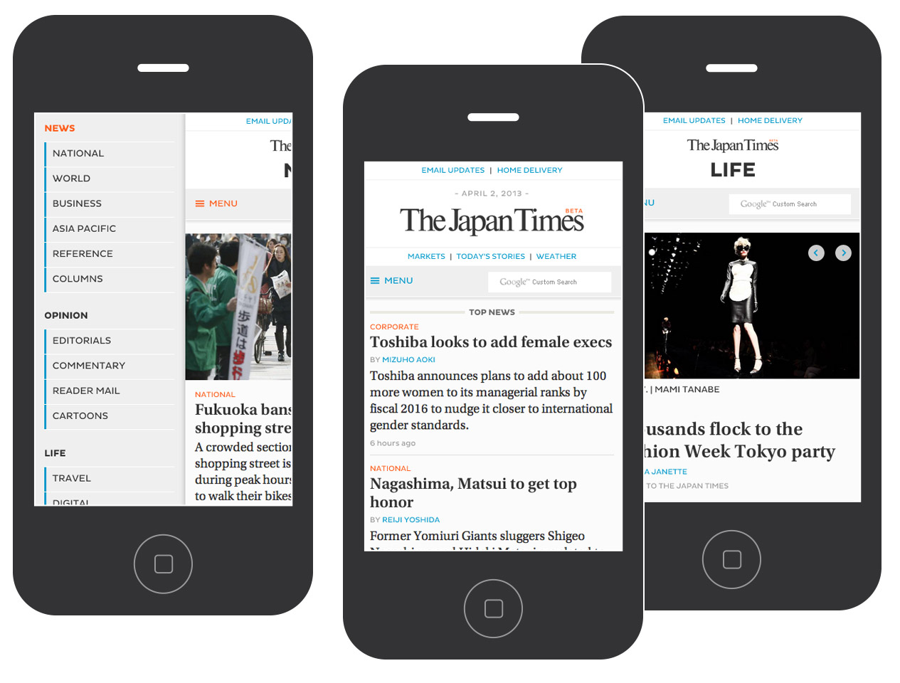 The Japan Times - New Responsive Site - Smartphone / iPhone