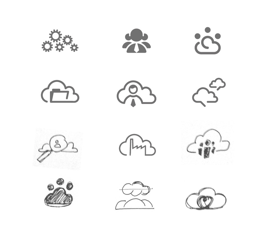 WorkCloud - Logo Drafts
